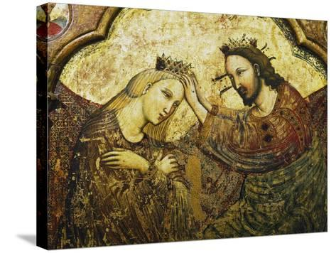 Coronation of the Virgin, 1340-1350--Stretched Canvas Print