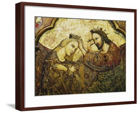Coronation of the Virgin, 1340-1350--Framed Art Print