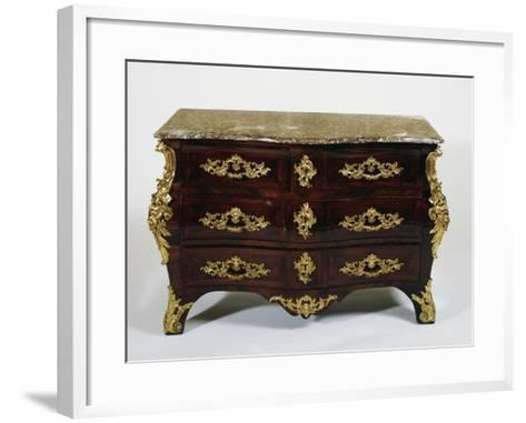 Louis XV Style Gilt Bronze Commode, Stamped F Moudon, France--Framed Art Print