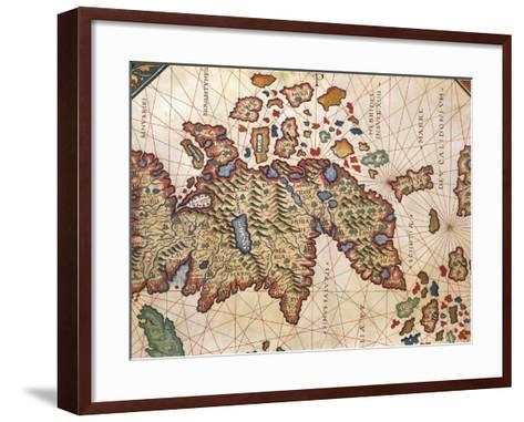 Map of New Caledonia, from Nautical Atlas by Giorgio Sideri Called Callapoda--Framed Art Print