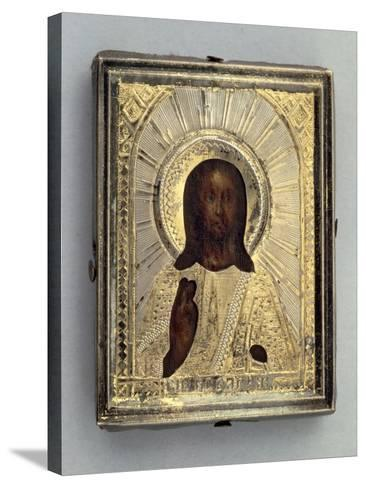 Small Travel Icon Depicting Blessing Christ--Stretched Canvas Print