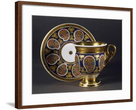 Cup and Saucer, 1820, Porcelain, Bohemia Manufacture, Czech Republic--Framed Art Print