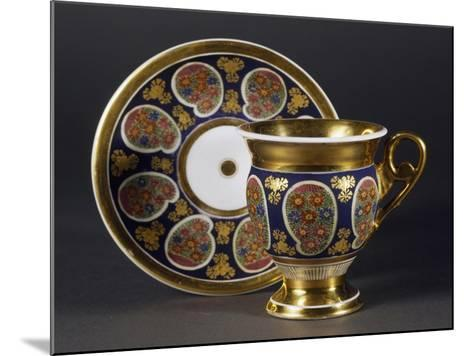 Cup and Saucer, 1820, Porcelain, Bohemia Manufacture, Czech Republic--Mounted Giclee Print