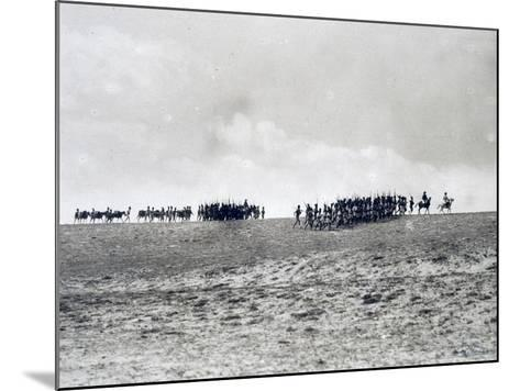 Arab-Somali Companies under Command of Italian Officers Marching in Desert--Mounted Giclee Print