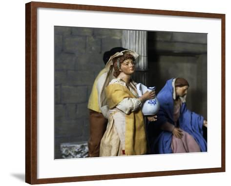 Woman with Jug, Nativity Scene Set at Forum of Nerva or Colonnacce in Rome--Framed Art Print