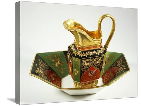 Jug and Bowl Decorated in Charles X Style, 1824-1830--Stretched Canvas Print