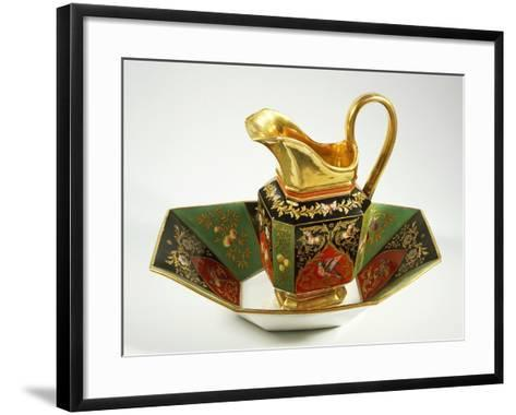 Jug and Bowl Decorated in Charles X Style, 1824-1830--Framed Art Print