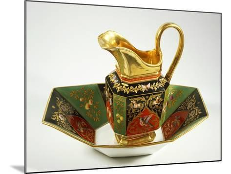 Jug and Bowl Decorated in Charles X Style, 1824-1830--Mounted Giclee Print