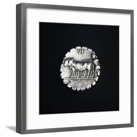Coins Bearing Image of Plowman Driving Two Oxen, Recto, Roman Coins--Framed Art Print
