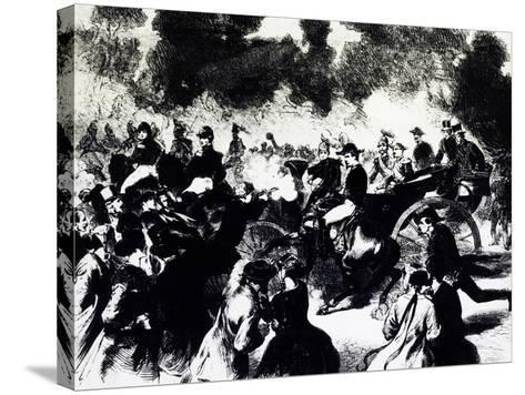 Bombing of Paris Where Tsar Alexander II Romanov Escaped Death, 1867--Stretched Canvas Print