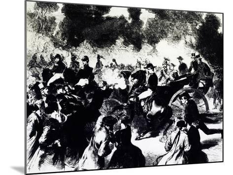 Bombing of Paris Where Tsar Alexander II Romanov Escaped Death, 1867--Mounted Giclee Print