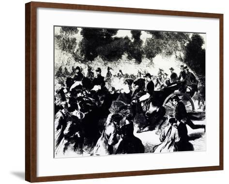 Bombing of Paris Where Tsar Alexander II Romanov Escaped Death, 1867--Framed Art Print