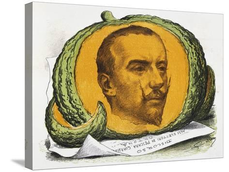 Seasonal Fruit, Cartoon About Gabriele D'Annunzio from the Pasquino, August 29, 1897, Italy--Stretched Canvas Print