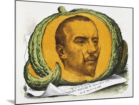 Seasonal Fruit, Cartoon About Gabriele D'Annunzio from the Pasquino, August 29, 1897, Italy--Mounted Giclee Print