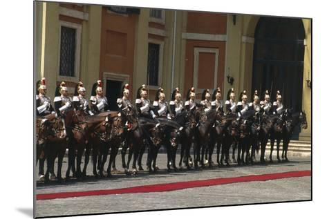 Soldiers on Horseback at Cuirassiers Gala--Mounted Giclee Print