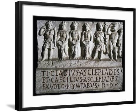 Aclepiade, Diana, Three Nymphs, Silvanus, and Hercules--Framed Art Print