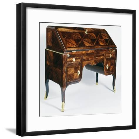 Regency Style Kingwood Drop Leaf Writing Desk with Drawers, Attributed to Francois Fleury, France--Framed Art Print
