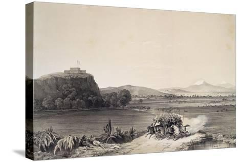 The Defence of the Castle of Chapultepec Against the Americans in 1847--Stretched Canvas Print