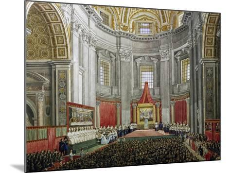 Solemn Celebration in Memory of Pope Pius IX, in St Peter's Basilica, Vatican City--Mounted Giclee Print