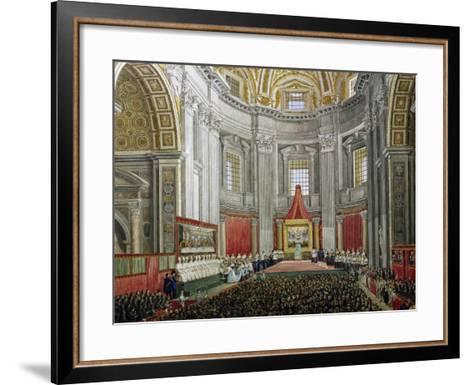 Solemn Celebration in Memory of Pope Pius IX, in St Peter's Basilica, Vatican City--Framed Art Print