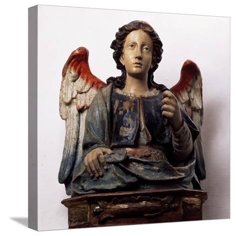 Archangel Michael, Wooden Sculpture--Stretched Canvas Print