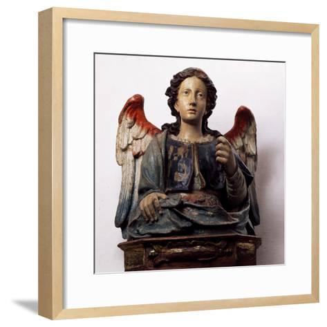 Archangel Michael, Wooden Sculpture--Framed Art Print