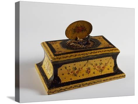 Music Box with Bird, 1880--Stretched Canvas Print