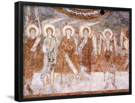 Angels of Heavenly Court, Romanesque Fresco in Abbey Church of Saint-Theodore--Framed Art Print
