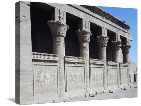 Facade of Roman Mammisi, Temple of Hathor, Dendera, Egypt--Stretched Canvas Print