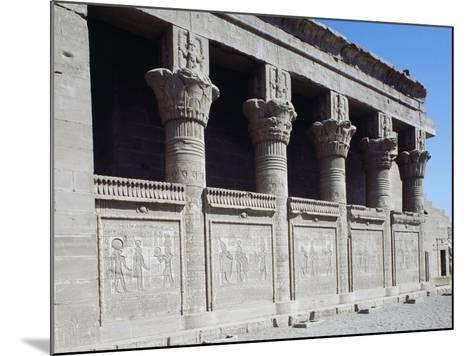 Facade of Roman Mammisi, Temple of Hathor, Dendera, Egypt--Mounted Giclee Print