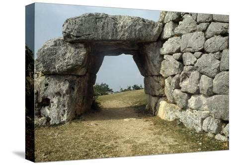 Saracen Door, Megalithic Walls of Segni, Lazio, Italy--Stretched Canvas Print