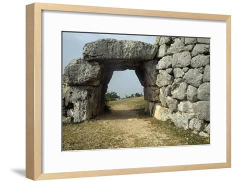 Saracen Door, Megalithic Walls of Segni, Lazio, Italy--Framed Art Print