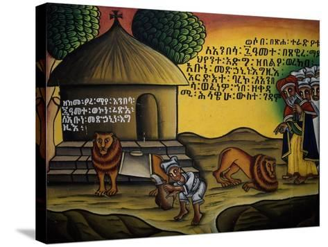 Sacred Scene, Church of Our Lady Mary of Zion, Axum, Tigray, Ethiopia--Stretched Canvas Print