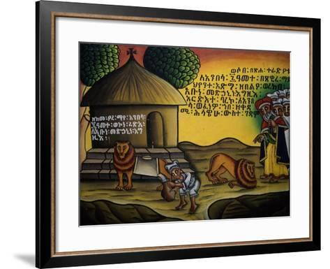 Sacred Scene, Church of Our Lady Mary of Zion, Axum, Tigray, Ethiopia--Framed Art Print