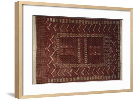 Rugs and Carpets: Russia - Turkestan - Ensi Carpet--Framed Art Print