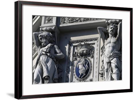 Coat of Arms of Italy, Decorative Detail, Genova Piazza Principe Railway Station--Framed Art Print