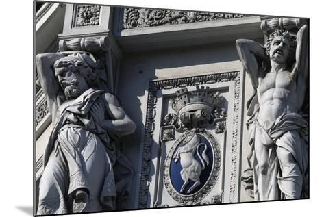 Coat of Arms of Italy, Decorative Detail, Genova Piazza Principe Railway Station--Mounted Giclee Print