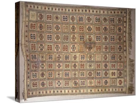 Rugs and Carpets: Azerbaijan - Woollen Kilim Carpet--Stretched Canvas Print