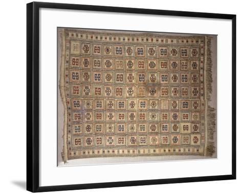 Rugs and Carpets: Azerbaijan - Woollen Kilim Carpet--Framed Art Print