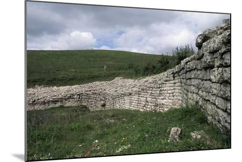 Walls, Archaeological Ruins of Monte Adranone, Sicily, Italy--Mounted Giclee Print