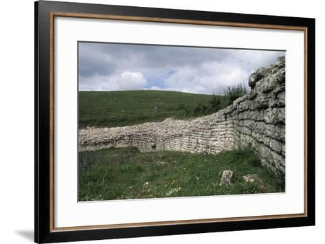 Walls, Archaeological Ruins of Monte Adranone, Sicily, Italy--Framed Art Print