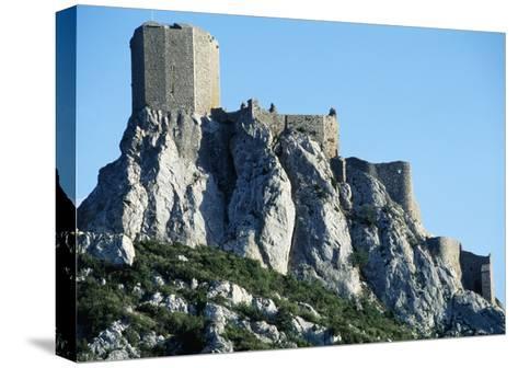 Queribus Castle, Perpignan, Languedoc-Roussillon, France, 13th-16th Century--Stretched Canvas Print