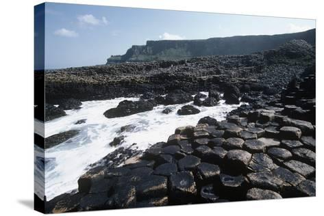 UK, Northern Ireland, County Antrim, Prismatic Basalt Columns of Giant's Causeway--Stretched Canvas Print