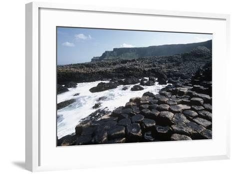 UK, Northern Ireland, County Antrim, Prismatic Basalt Columns of Giant's Causeway--Framed Art Print