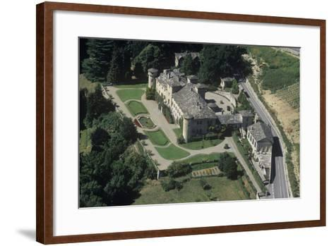 Italy, Aosta Valley, Passerin D'Entrèves Castle, Aerial View--Framed Art Print