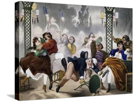 Ball at Casino D'Asnieres, Caricature, France--Stretched Canvas Print