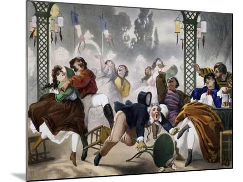 Ball at Casino D'Asnieres, Caricature, France--Mounted Giclee Print