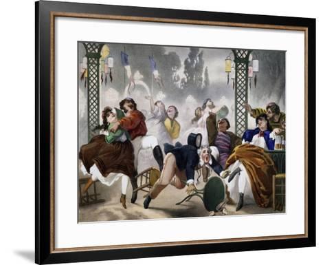 Ball at Casino D'Asnieres, Caricature, France--Framed Art Print