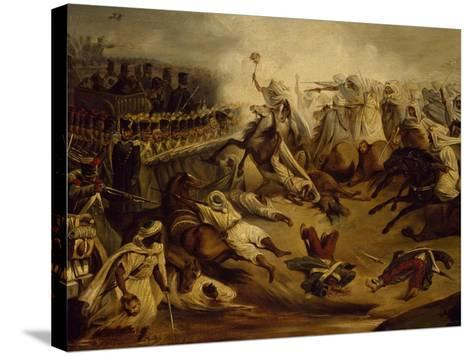 Algerian Counterattack at Constantine During Colonial Wars, November 1837--Stretched Canvas Print