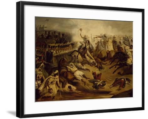 Algerian Counterattack at Constantine During Colonial Wars, November 1837--Framed Art Print